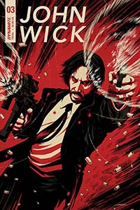 John Wick #3 (2018)    Interior Lineart  Dynamite Entertainment