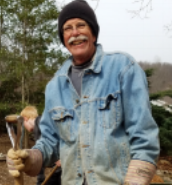 Community service volunteer, and architect for pavilion project, Bill Bauman