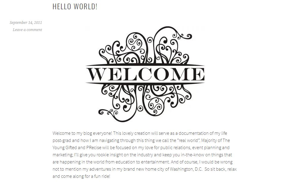 My very first blog post - eek!
