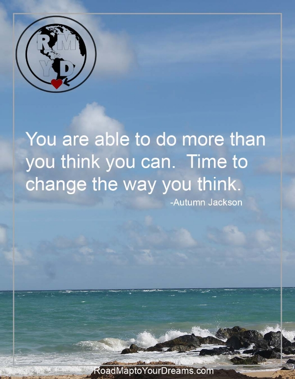 How to Think Yourself Out of Doing Anything at All in Four Easy Steps.   Change the way you think.