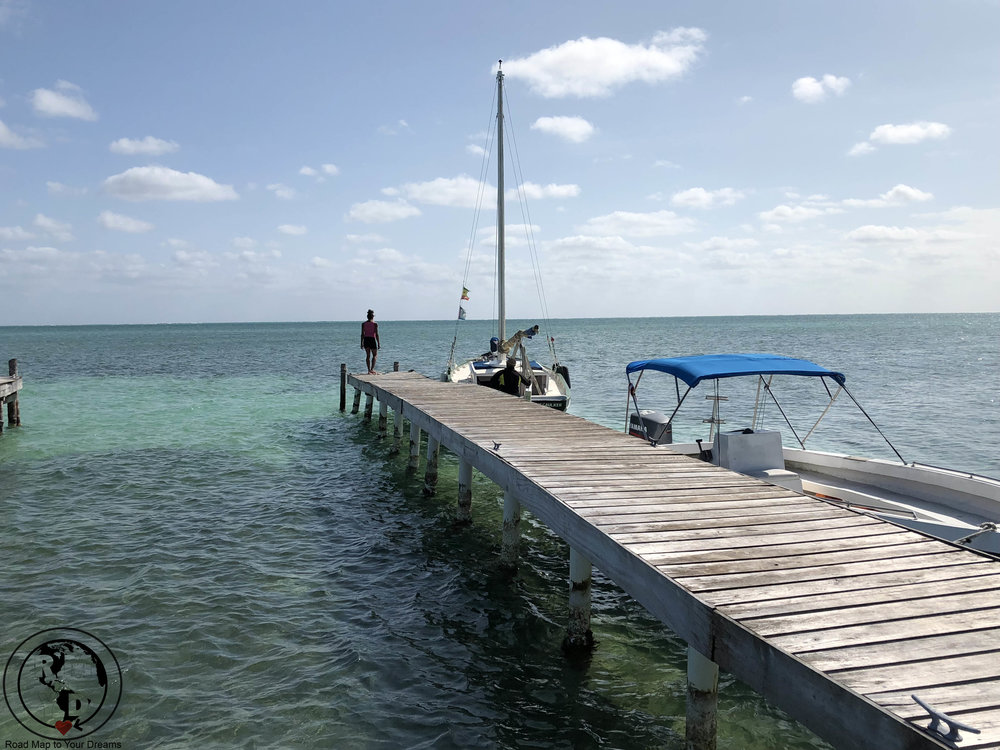 One of the spectacular views of Caye Caulker