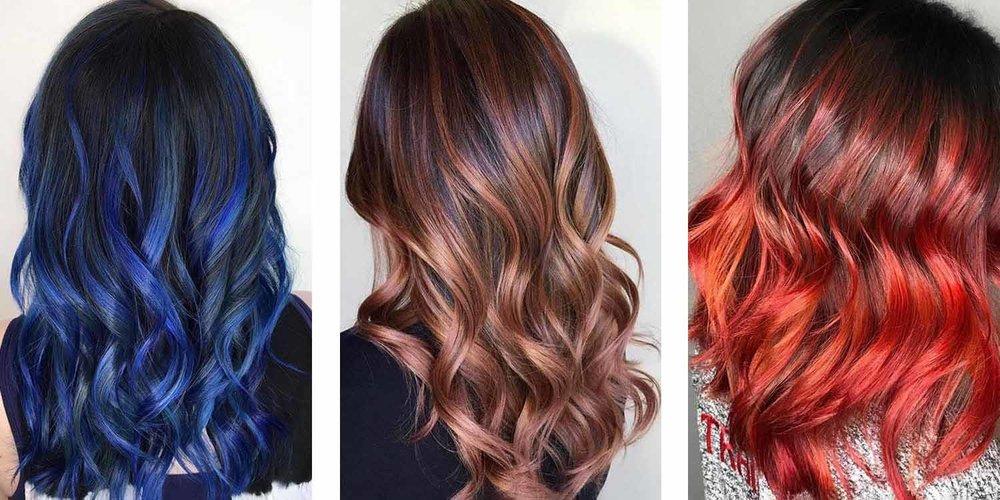 Highlight ideas for dark hair