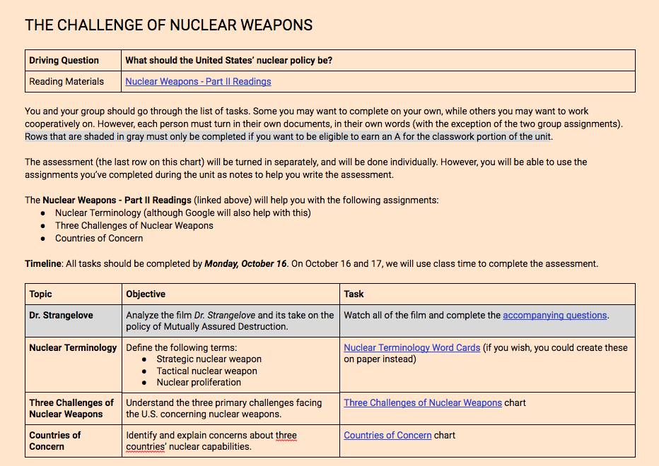 Nuclear Weapons Unit - Page 1