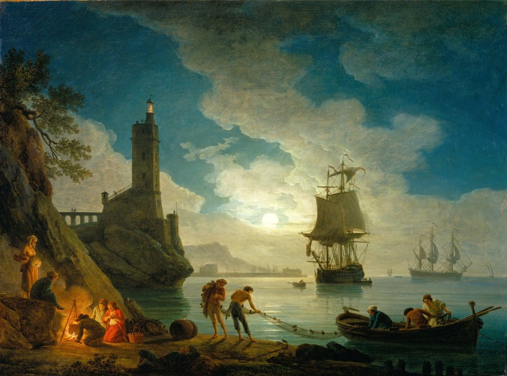 A Harbor In The Moonlight, Vernet