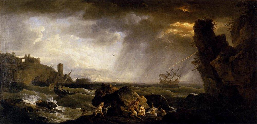 Seascape: Tempest, Vernet, 1735