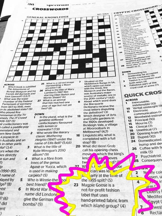 The Age Crossword, Saturday April 29th 2017