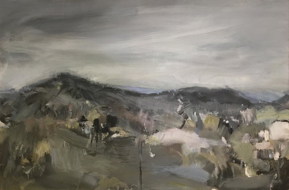 Winter Greys. Oil on linen. 61 x 91cm.