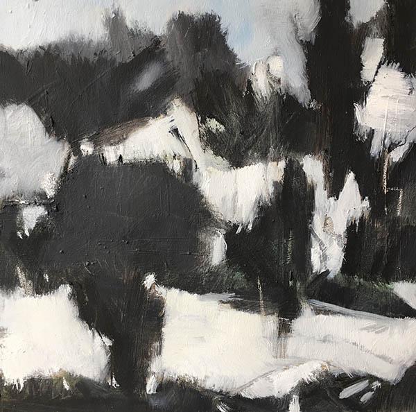 Landscape. 2017, Oil on canvas. 40 x 40cm. (SOLD)