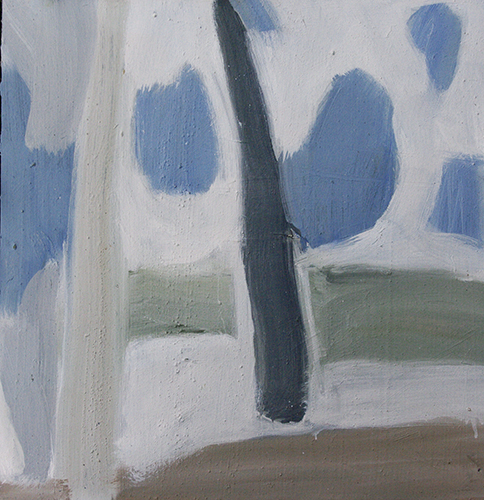 Blue Skies II. 2016. Oil on board. 45 x 45cm.
