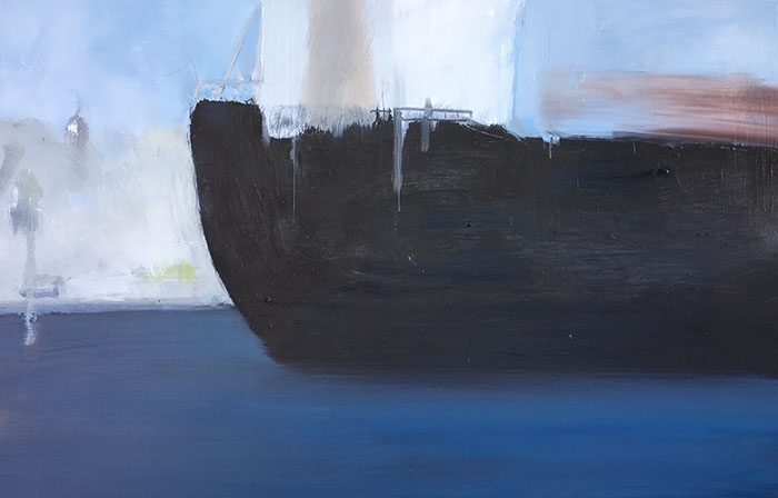 Freighter III, 2017. Oil on board. 61 x 91cm. SOLD.