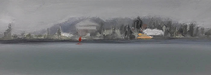 Newcastle V.  2017. Oil on board. 43 x 15.5cm. SOLD.