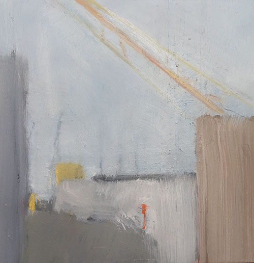 City IV  , Oil on board. 30 x 30cm. SOLD.