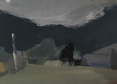 Lidsdale Evening, 2018   oil on canvas soon board 10 x 16cm SOLD