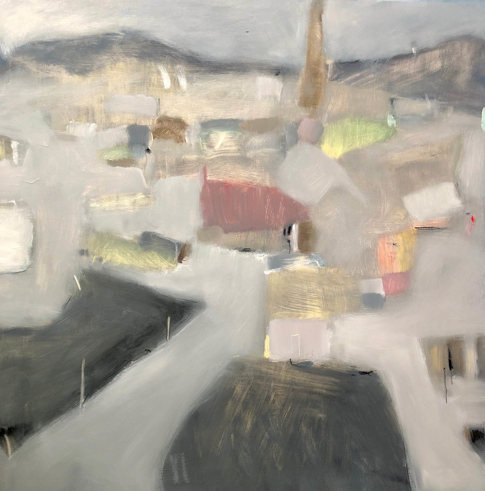 Jane Canfield, Past the bridge, past the stacks..., 2019, oil and pastel on board, 72dpi .jpg