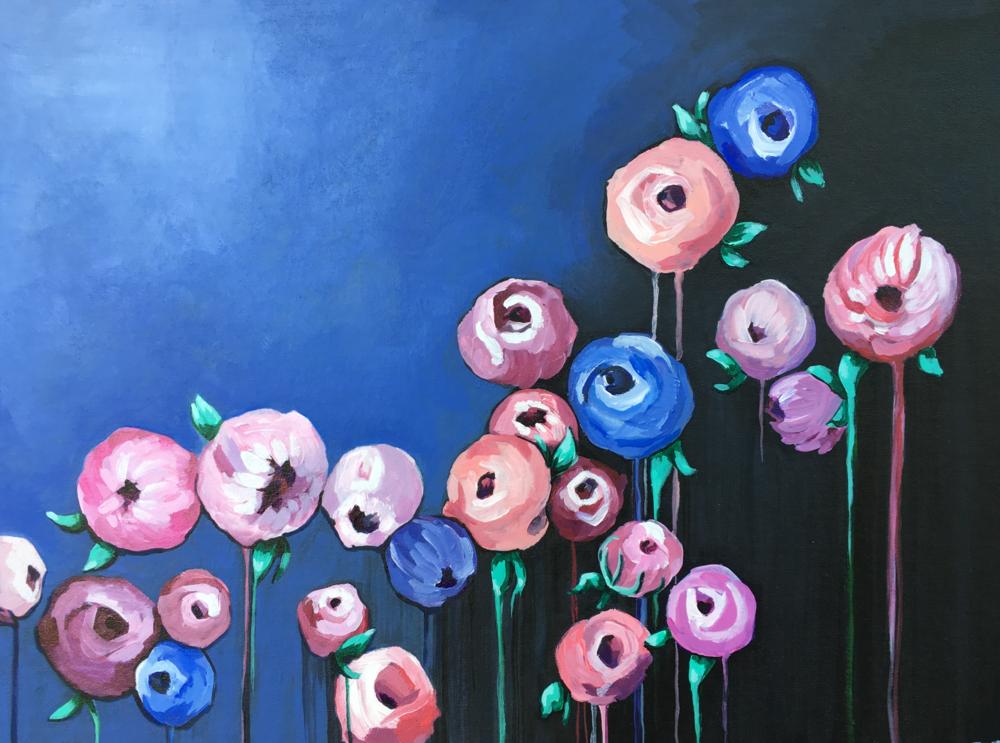 """Purple Floral"" by Rhiannon Rosebaum"