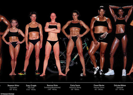 Photographer Howard Schatz's work has helped to expose the wide spectrum of body types belonging to 125 of the world's best athletes