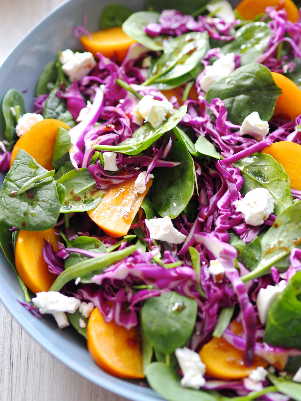 Persimmon Rainbow Salad
