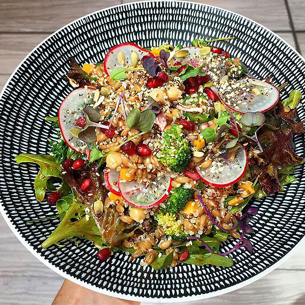 Superfood Salad from healthy mexican place, Los Vida