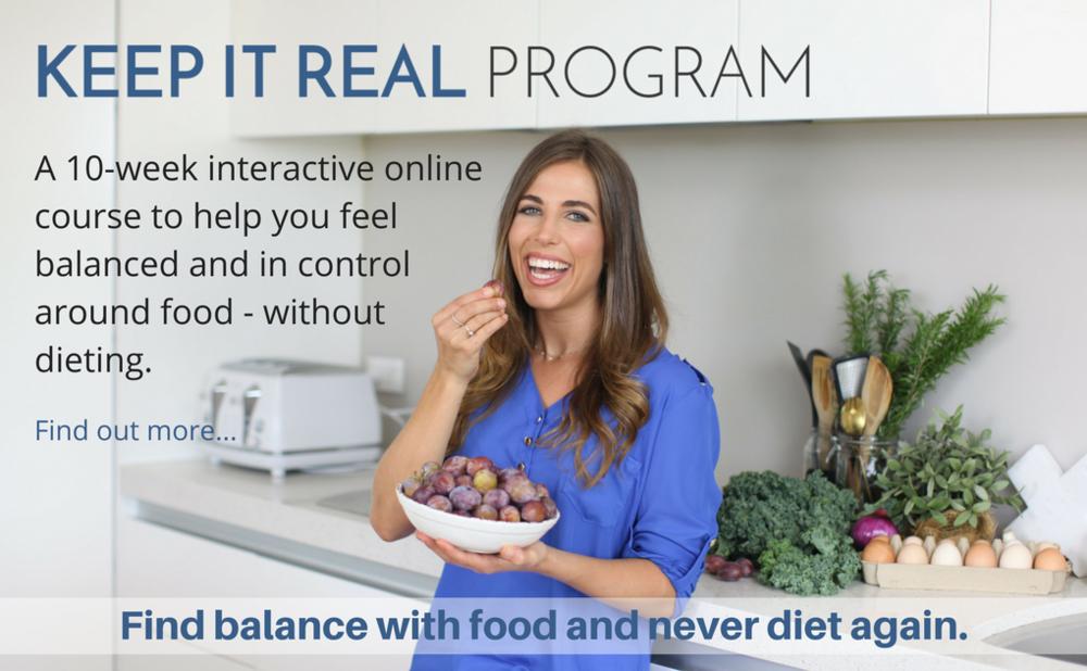 Balanced eating lifestyle program