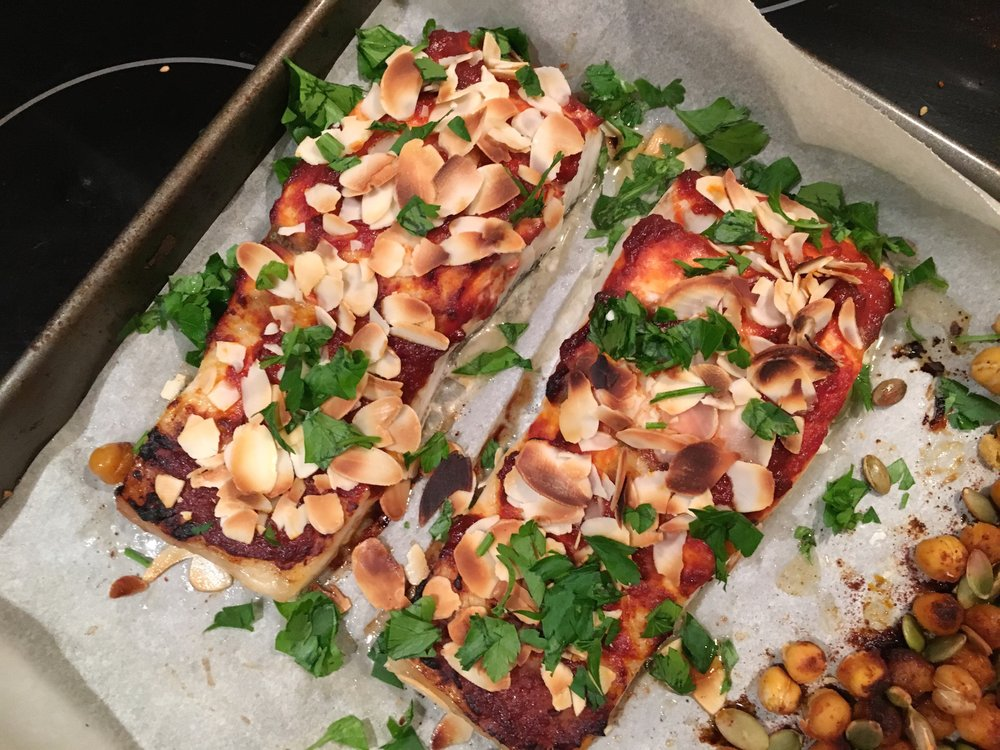 Harissa Barramundi easy healthy recipe Lyndi Cohen