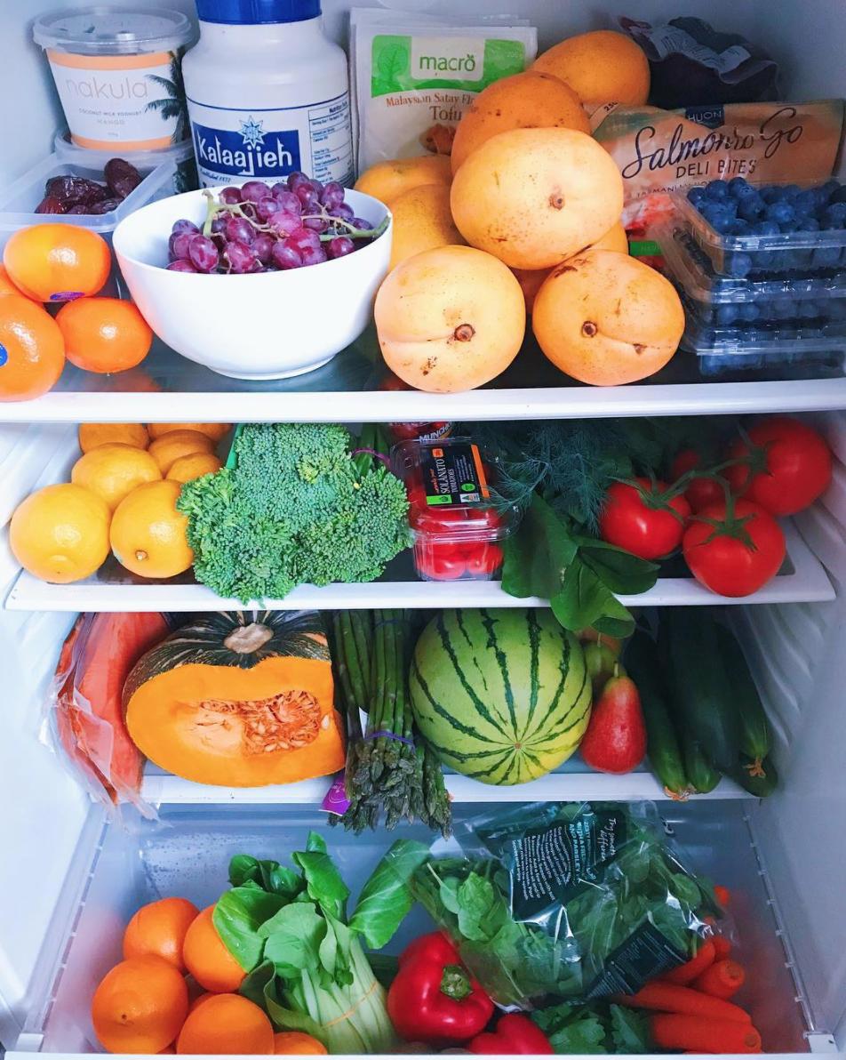 A peak inside Bec's fridge!