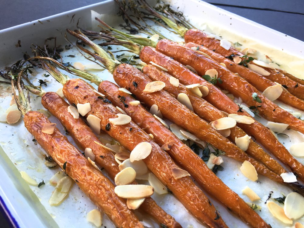 Baked thyme carrot recipe healthy.JPG