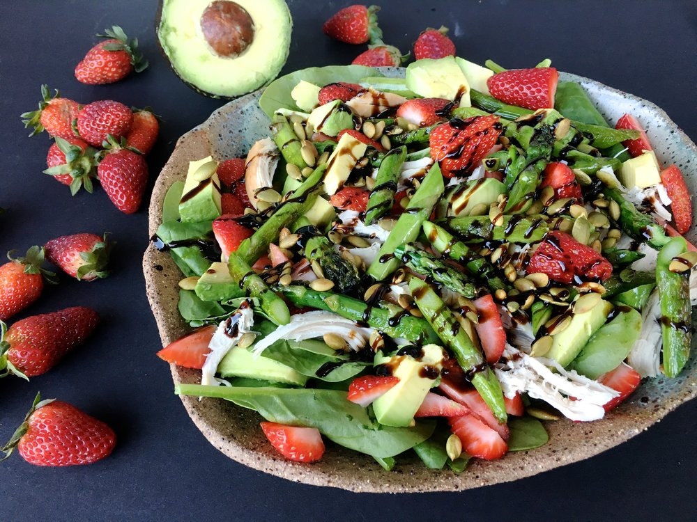 I always add balsamic glaze to my salads. A bit a sugar? Who cares. I save my willpower for the stuff that matters.