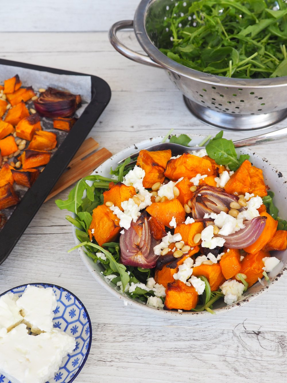 Pumpkin and Feta Salad Recipe Lyndi Cohen