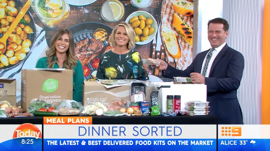 I did a review of the best meal delivery services on Channel 9's TODAY show with Georgie Gardner and Karl Stefanovic. Click on the image to watch.