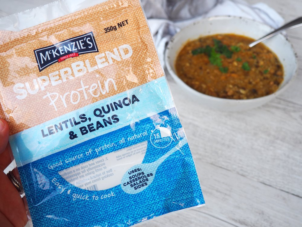 McKenzies Superblend Protein soup recipe by Lyndi COhen.JPG