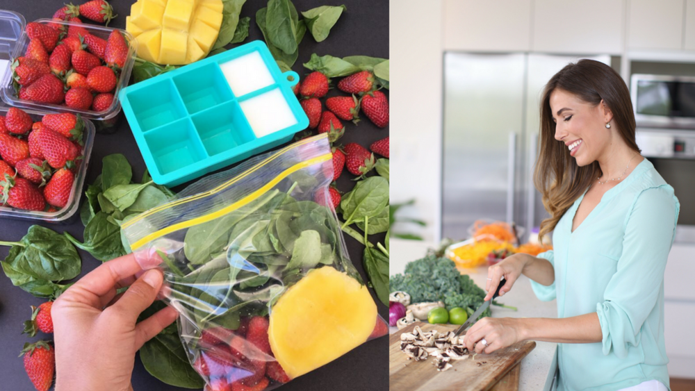 Freezer hacks - Freeze smoothies in freezer bags - via nutritionist Lyndi Cohen.png
