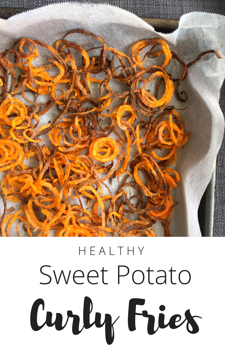 Sweet Potato Curly Fries - Healthy Recipe