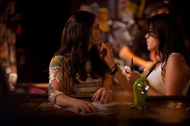 #tbt to the #CBGB movie with a star-studded cast and my first time as a #keymua. This is a #candid shot of #touchups on @ashleygreene by our on #set #photographer @growbybeau 📸 #indie #period #character #makeupartist #promua #micahdoesmakeup