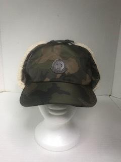 MONCLER SHEARLING  EAR-FLAP  CAMO HAT — % 3c68ab26599