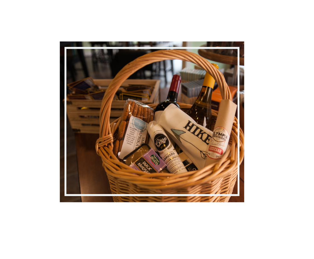 gifts - Peruse our selection of epicurean delicacies for the perfect hostess gift or let us make up a basket. We also offer gift certificates. Give us a call for more info.