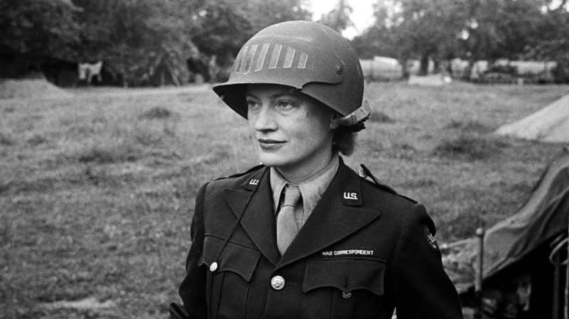 Lee Miller during her time as a foreign war correspondent (via Heal's)
