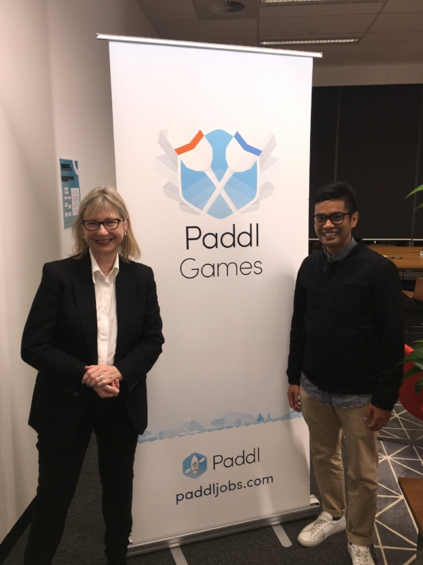 Pictured: Dominique Fisher, CEO, CareerLounge & Paddl; Adrian Yasin, Technical Lead, Canon Business Services
