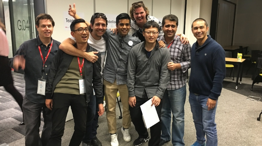 Canon employees supported and mentored competing teams in the Canon Hack Challenge.