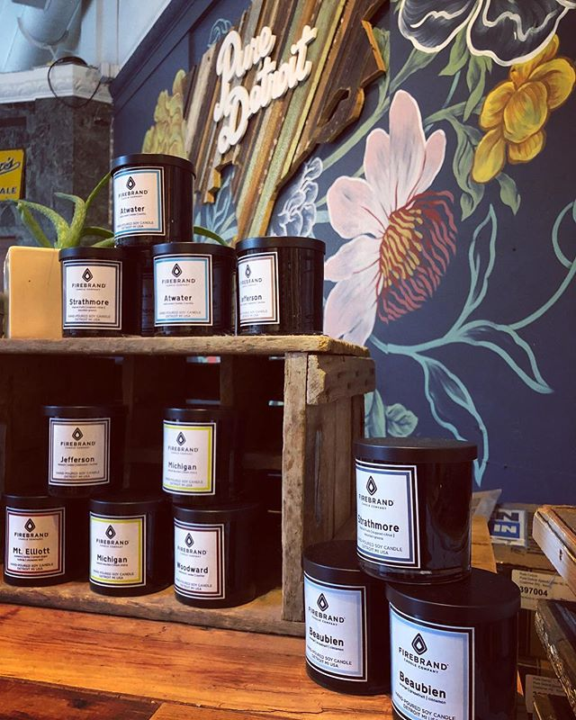 All restocked over at Pure Detroit stores - 8 different Firebrand scents!