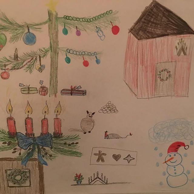 FamWeek ønsker deg og familien er riktig god jul 🎄 Her deler vi en flott juletegning fra en annen FamWeeker 🎅🏻