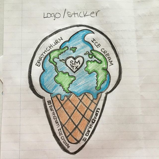 New logo prototype by @samanthaesperanza :) Thoughts?? Stickers soon! Open for manufacturer suggestions and referrals!  #icecream #dessert #local #food #foodporn #health #healthyfood #earthchurn #sanmarcos #austin #tx #texas #txst #atx #paleo #primal #keto #ketodiet #ketosis #grassfed #millking #paleofx #sxsw #sxsw2018 #art #natural #wellness #sustainable #sustainability #agriculture