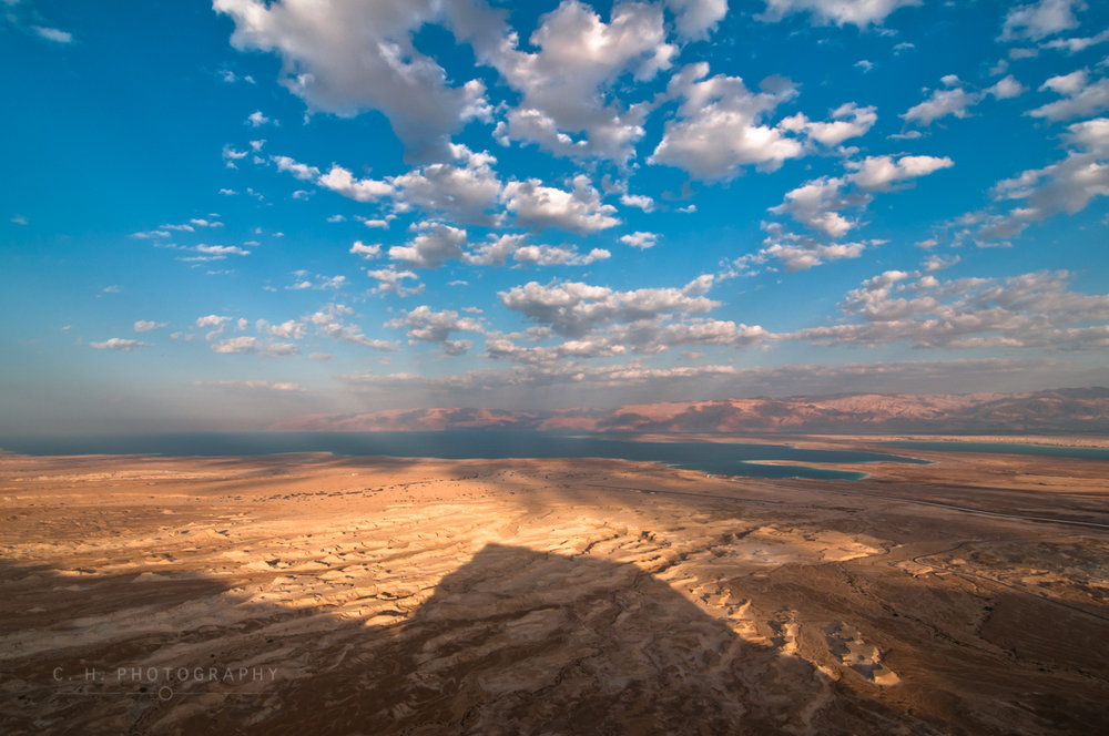 Shadow of Masada - Dead Sea, Israel