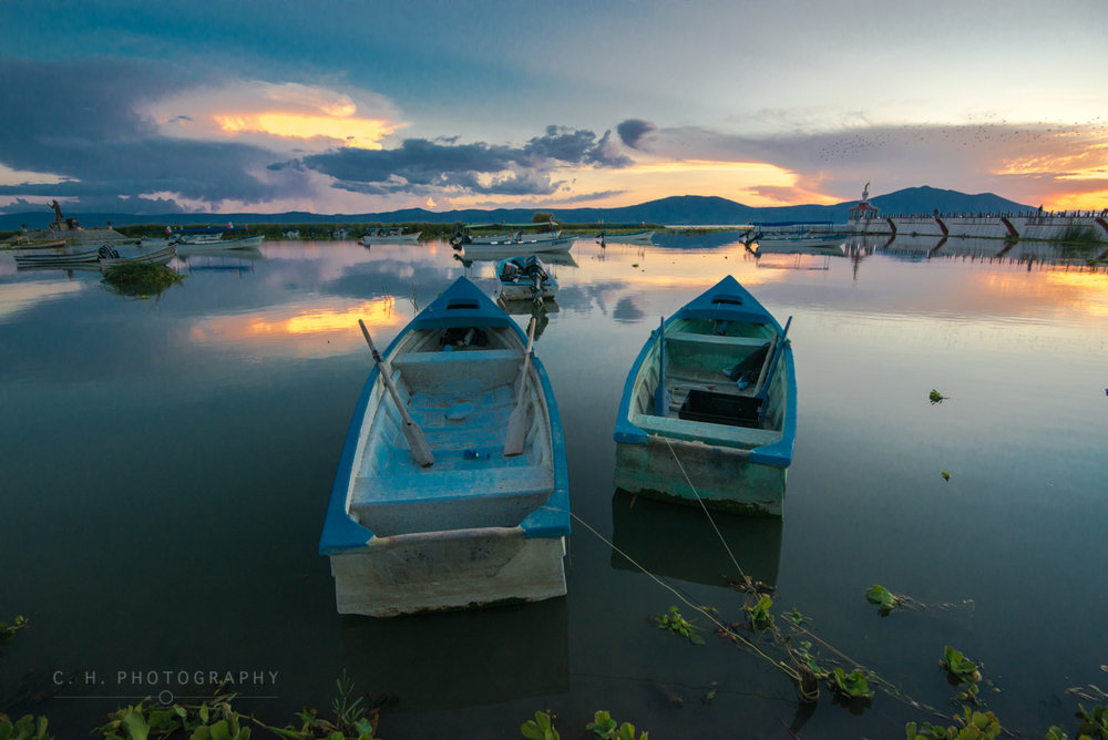 Fishing boats - Lake Chapala, Mexico