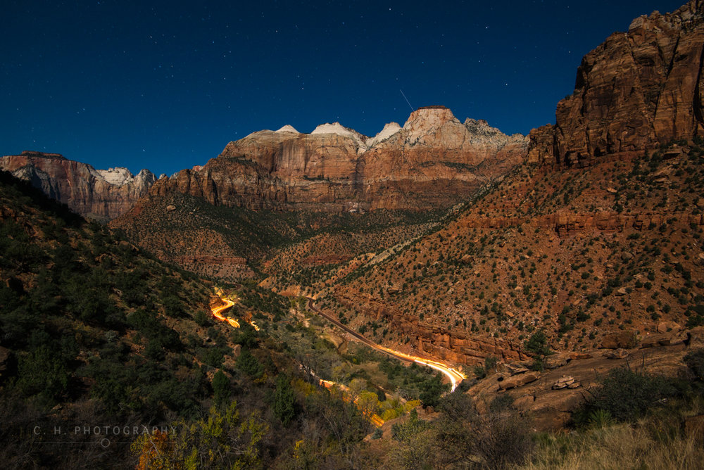 Full Moon Over Zion National Park, Utah, USA