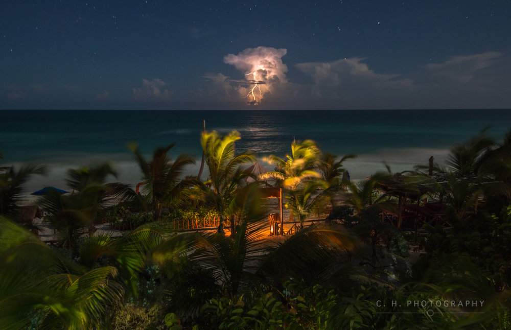 Caribbean Lightning - Tulum, Mexico