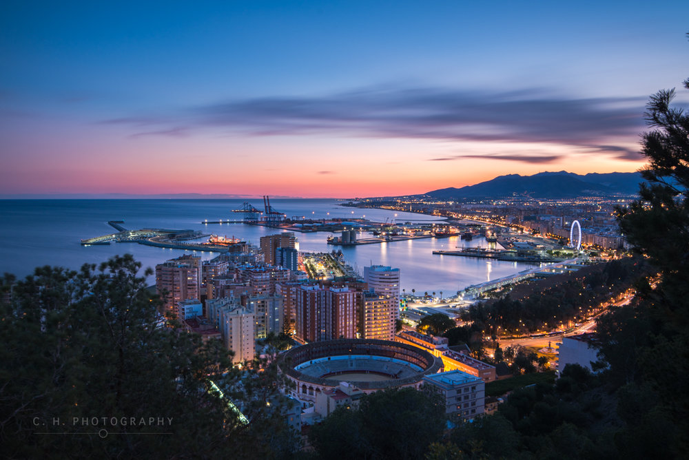 Andalusian Blue Hour - Malaga, Spain
