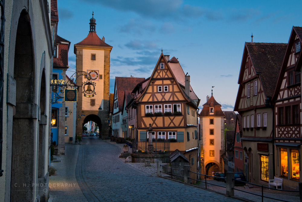 Medieval Streets - Rothenburg ob der Tauber, Germany