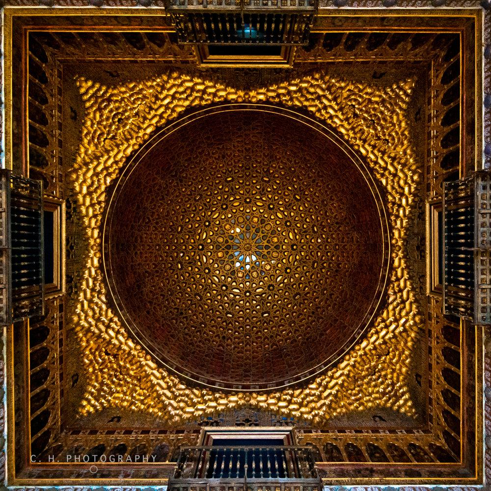 Alcazar Ceiling - Seville, Spain