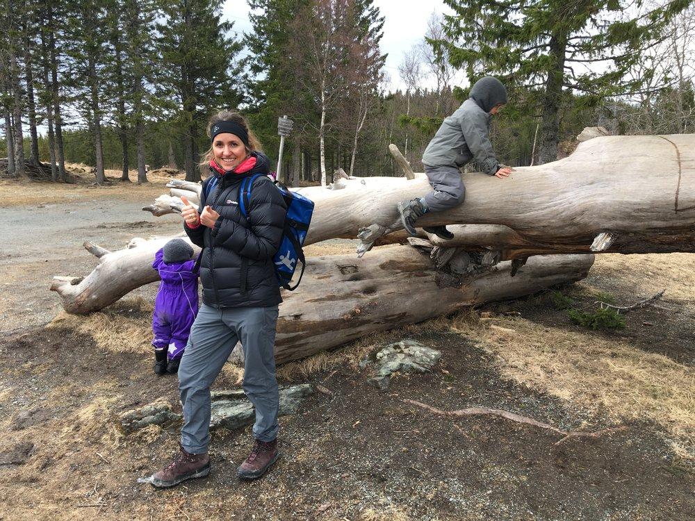 Bloggen er nu ude, vi har været på tur i det norske fjeld - thumbs up til det hele!