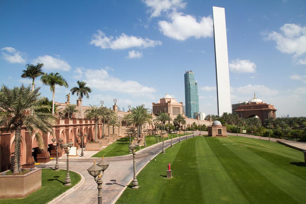 abu dhabi emirates palace green lawn garden